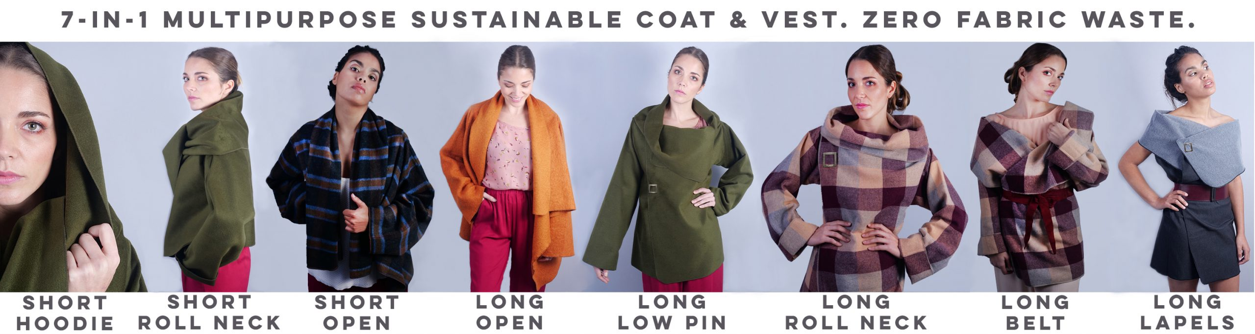 7-in-1 coat positions