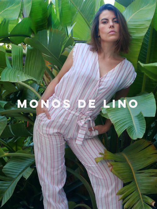 Monos de verano de lino moda sostenible de Musgo hecho en España