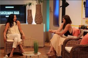 Lidia Sabater vistiendo Musgo en La Tarde con Celeste